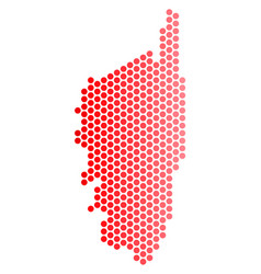 Red dot corsica france island map vector