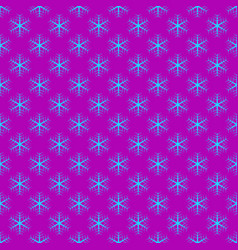 Repeating geometrical stylized snowflake pattern vector