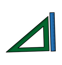 ruler and triangle measuring element vector image