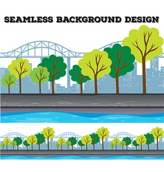 Seamless background design with trees and vector
