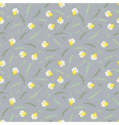 Seamless floral pattern with camomile vector image