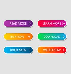 set modern web buttons navigation button menu vector image