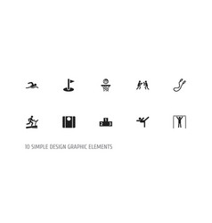 Set of 10 editable fitness icons includes symbols vector