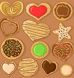 Set of isolated cookies vector image