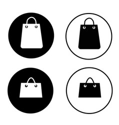 shopping bag icon on white background shopping vector image