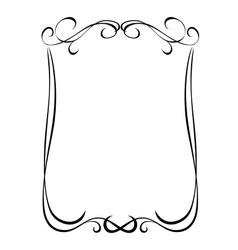 Simple black ornamental decorative frame vector