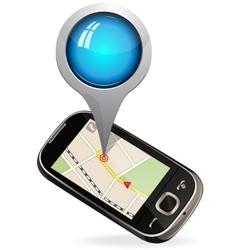 Smart phone maps navigation vector image