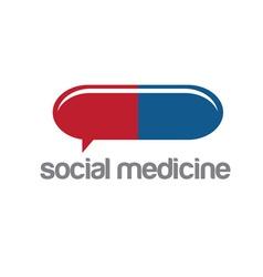 social medicine design template vector image