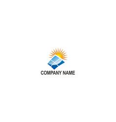 solar panel company logo vector image