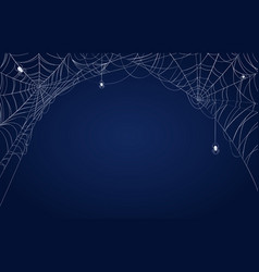 spider web banner halloween decorated vector image