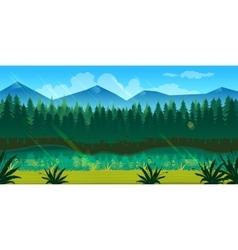 spring forest landscape vector image