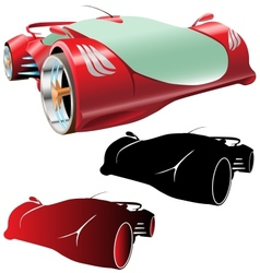 Supercar concept and silhouettes vector