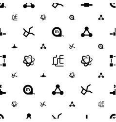 symbol icons pattern seamless white background vector image