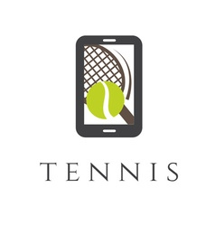 Tennis club smartphone application vector