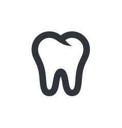 tooth icon symbol pictograph isolated icon vector image