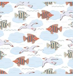 underwater 10 vector image