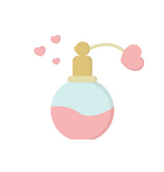 Valentines day fragrance gift icon on white vector