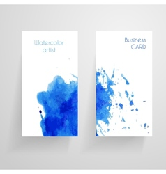 Watercolor cbusiness card template vector image
