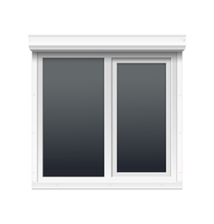 Window with Rolling Shutters vector image
