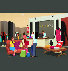 women shopping for clothing vector image