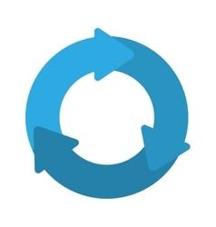 blue arrows icon vector image vector image