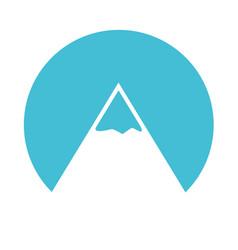 blue mountain cartoon vector image