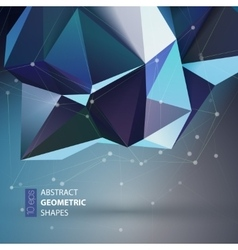 Bright blue Polygon geometry shape vector image