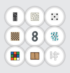 flat icon play set of bones game backgammon dice vector image vector image