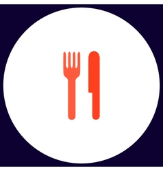 fork and knife computer symbol vector image vector image