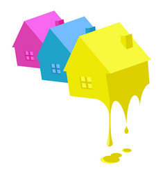 painting business houses vector image
