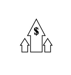 profits icon vector image vector image