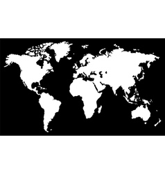White world map vector