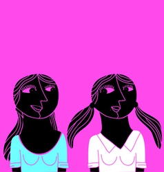 abstract friends vector image vector image