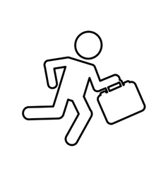 businessman running isolated icon design vector image