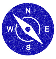 compass icon grunge watermark vector image