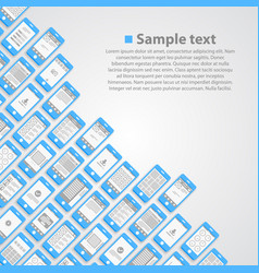 flat phone screen background vector image