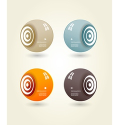 Four colored speakers with place for your own text vector image