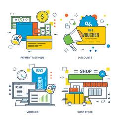 payment methods discount voucher shop store vector image vector image