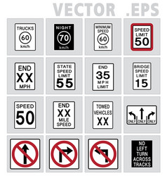 Traffic sign road vector