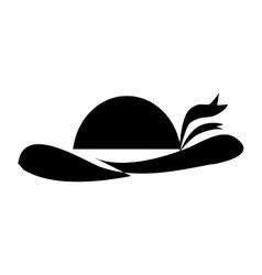 Vintage woman hat vector image