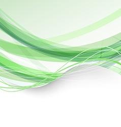 Border bright folder green swoosh background vector image