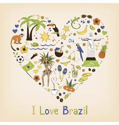 Brazil set vector image vector image