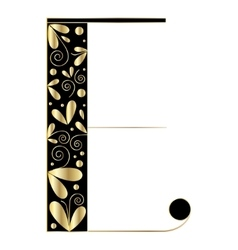 Decorative letter shape E vector image