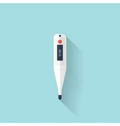 Digital medical thermometer flat icon Health vector image vector image