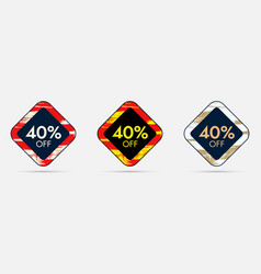 40 off discount sticker 40 off sale and discount vector image