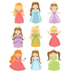 Fairy princesses set vector image