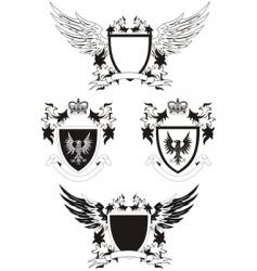 grunge shields vector image