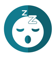 Sleepy emoticon funny shadow vector