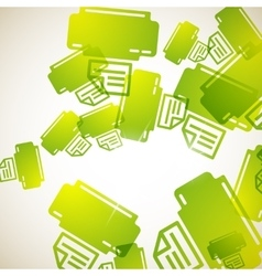 abstract background printer vector image