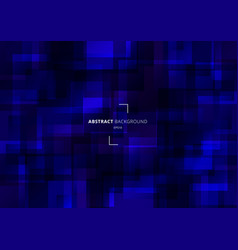 Abstract geometric squares overlapping blue vector